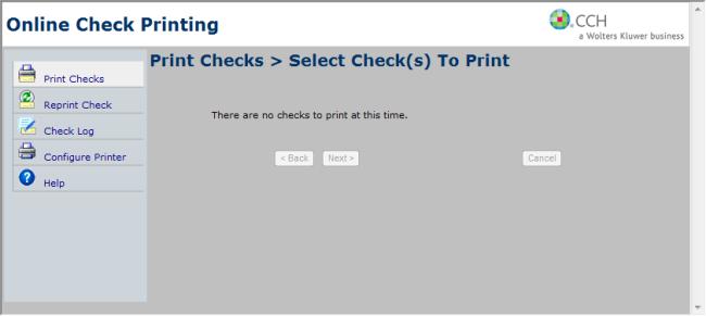 printing checks